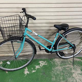 Cheisa 自転車 27インチ 水色 鍵付き