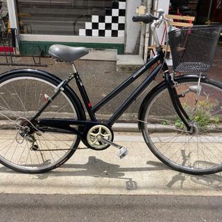 LEDオートライト 27インチ自転車【6段変速】 ブラック