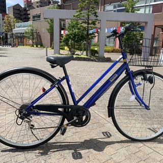 青い自転車 27インチ