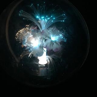 【癒しの光*レア品】ファイバーライト/レトロ置き時計