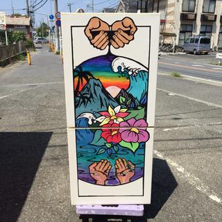 ★湘南アーティスト作 / アートデザイン冷蔵庫★ 無印良品 2ド...
