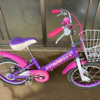 かわいい女の子の自転車