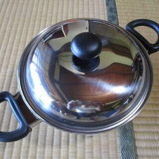 両手鍋20cm(ガスIH電気プレート対応、3層綱)[ジェノ…