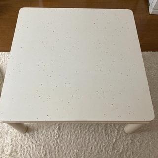 こたつテーブル 白 正方形 75cm✖️75cm