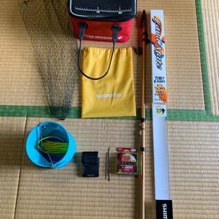 🉐値下げ🉐まとめ売り バッカン 水汲みバケツ 針外し タモ網 竿 の画像