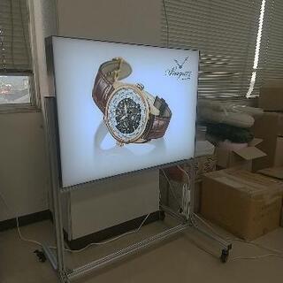 LED灯による内照式、アルミ枠、80cm×60cm