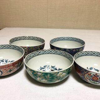 【ネット決済】【新品未使用】陶器 どんぶり5個 盆 木杓子セット...