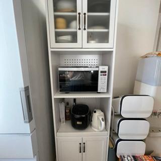 食器棚 レンジボード ホワイト
