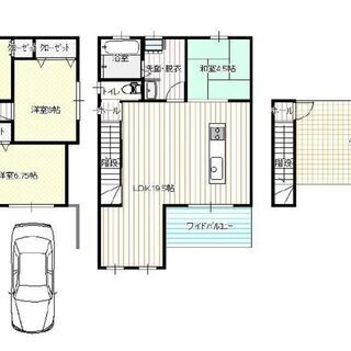 🟪売物件◆2階建て戸建て◆新築🟪 ◆西成区松◆1階ガレージ◆4L...