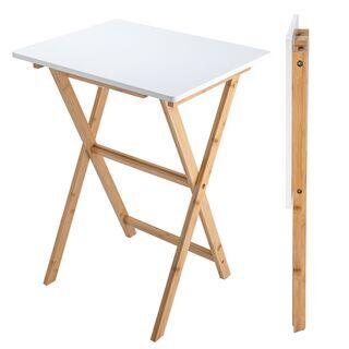 【正規販売店アウトレット】竹製サイドテーブル 折り畳み