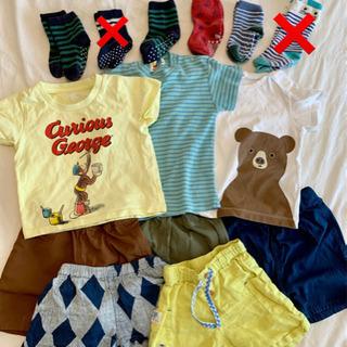 【ネット決済】まとめ売り。男の子用ハーフパンツ、シャツ、靴下
