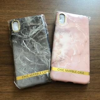 【ネット決済・配送可】大理石柄iPhoneケース*2個
