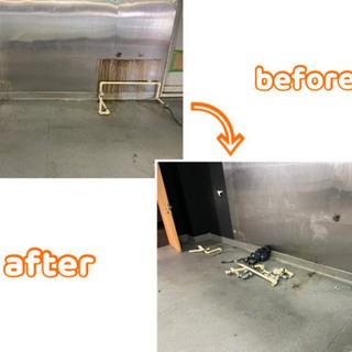 自動ドア修理やガス工事、給排水天井配管工事さして頂きました。