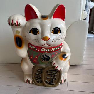 招き猫 陶器 41cm 大型 商売繁盛