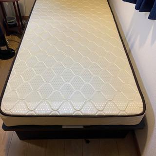 収納付きベッド【購入時価格約6万円】マットレス付き