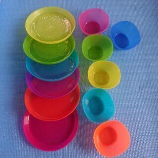 IKEA 子供用 カラー食器 まとめて