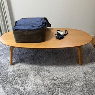 無印良品 楕円テーブルとこたつ布団