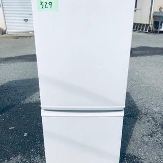 329番 シャープ✨ノンフロン冷凍冷蔵庫✨SJ-D14B-W‼️