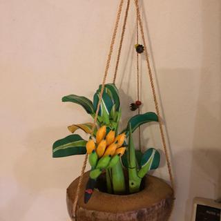 ハワイ産🌺ココナッツ受皿&バナナセット