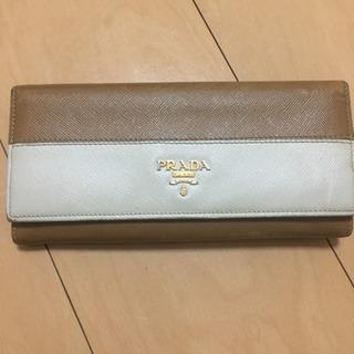 プラダ バイカラー 長財布