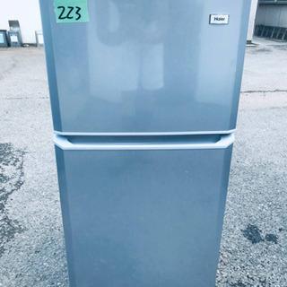 ①223番 Haier✨冷凍冷蔵庫✨JR-N106K‼️