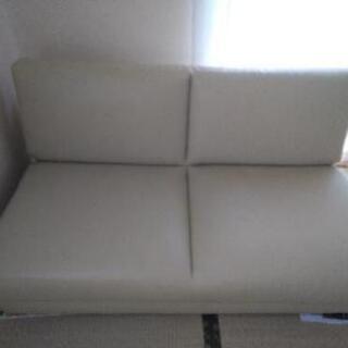 【10月まで】【値下げ】2人掛けソファーベッドの画像