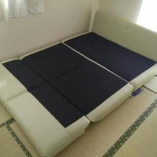 【10月まで】【値下げ】2人掛けソファーベッド - 家具