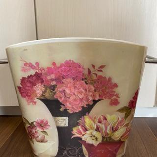 花柄 ゴミ箱 ふた付き