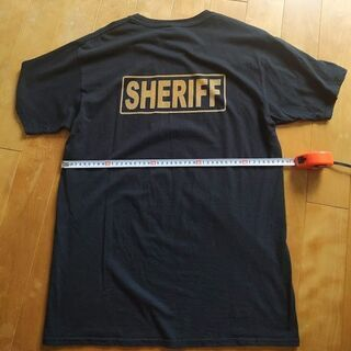 【希少】SHERIFF アメリカ保安官・警察 Size: L Tシャツ