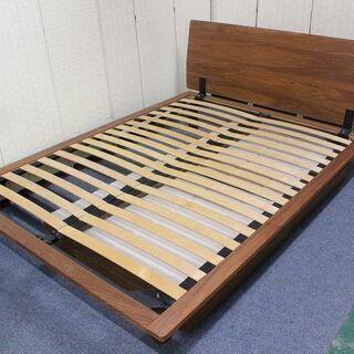 無印良品 ダブルサイズ木製ベッドフレーム ウォールナット材突板 ...
