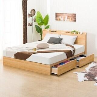【ネット決済・配送可】ニトリ ベッド クイーンサイズ フレームとマット