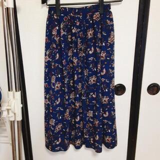 【ネット決済】ペイズリー柄ロングスカート