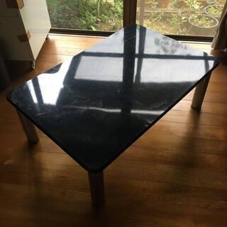 大理石調ローテーブル