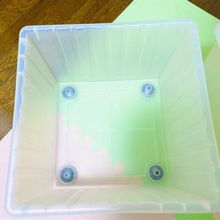 【IKEAイケア】【VESSLA】 収納ボックス キャスター付
