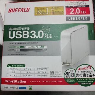 BUFFALO HDD ブァッファロー 2TB 外付けハードディ...
