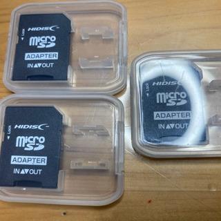 MicroSDカード用ソケット3個まとめて