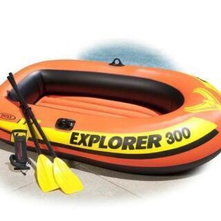 【ネット決済】3人乗りゴムボート、難ありで格安、一度使用