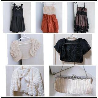 ドレス、ボレロ、バッグセット