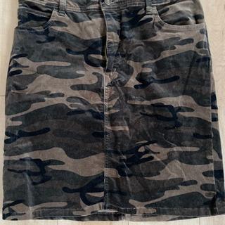 【お値下げ】Lサイズ カモフラージュ柄ひざ丈スカート