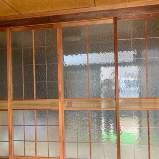 ガラス引戸 建具 インテリア 年代物 4枚【直接引き渡し限定】