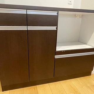 【ネット決済】[120cm]キッチンボード レンジ台 カウンター