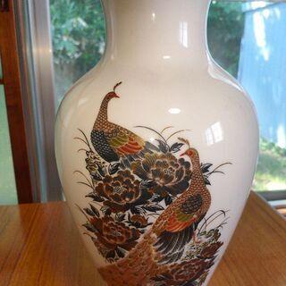 孔雀の花瓶 クジャク 壺? 骨董品 インテリア