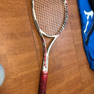 軟式テニスラケット中級から上級とラケットカバーセット ミズノ