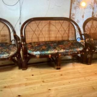 取引中(代理出品)籐家具 3点セット