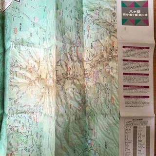 登山マップ 八ヶ岳 2004年
