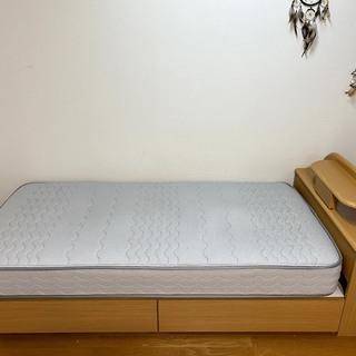 【ネット決済】山形市 シングルベッド(コンセント・照明付き)