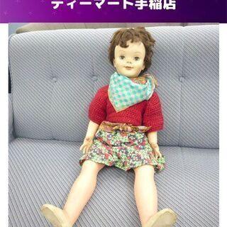 レトロ スリープアイ 人形 長さ約80cm 女の子 ドール まば...