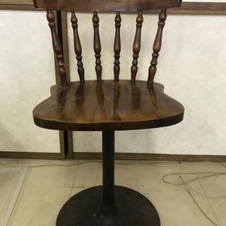 昭和レトロ木製回転椅子