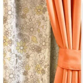 1級遮光カーテン幅100㎝ 丈200㎝ 4枚×4枚セット