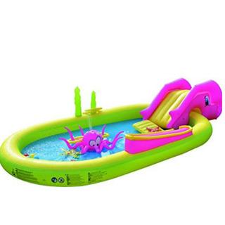 プール 家庭用 滑り台付き